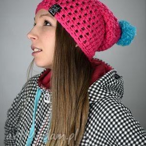 HelLove 22, czapka, czapa, akryl, pompon, cieńsza, zima