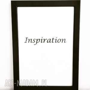 plakat dekoracyjny ramka a4 inspiration, plakat, ramka, napis, w formacie