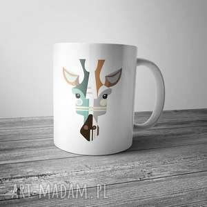 kubek z żyrafą, żyrafa, dom, grafika, kuchnia, kubek, kawa