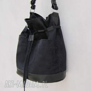 yocca - torba worek czarna, worek, listonoszka, swobodna, niebanalna, modna