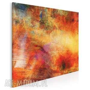 obraz na płótnie - abstrakcja nowoczesny w kwadracie 80x80 cm 70302