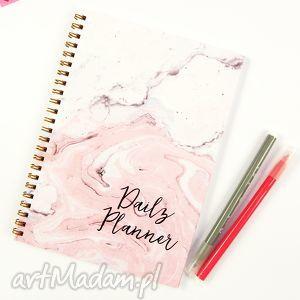 kapotka marmurowy notes, notes dzienny a5, planer dzienny, planer, plan, dnia