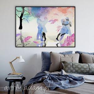 Zimowy Taniec... ilustracja - A4, akwarela, ilustracja, taniec, 20x30cm, a4, obraz
