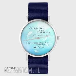 zegarki zegarek yenoo - przyjaciele granatowy, nato, zegarek, pasek