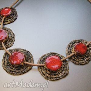 naszyjniki naszyjnik koral w kamieniu, kobiecy, naszyjnik, biżuteria, handmade