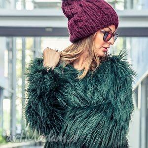Business Instinct! Upojne Bordo, jesień, zima, czapka, włóczka