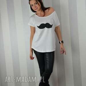 koszulka ręcznie malowana - wąsy od fresh lemon, ciekawa, koszulka