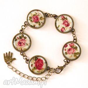 retro róże - bransoletka egginegg, romantyczna, prezent