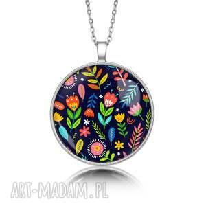 laluv medalion okrągły z grafiką kwiatowo, prezent, upominek, oryginalny