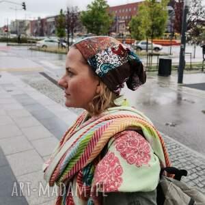 czapka patchworkowa damska rozmiar uniwersalny box 11, czapka, kolorowa, folk