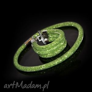 komplet żmijka w zieleni, elegancja