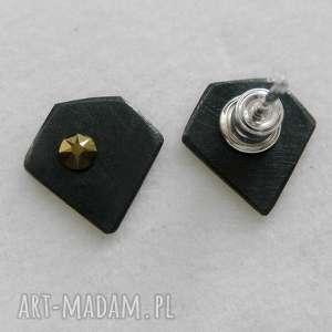 Diament kolczyki katarzyna kaminska srebro, swarovski,
