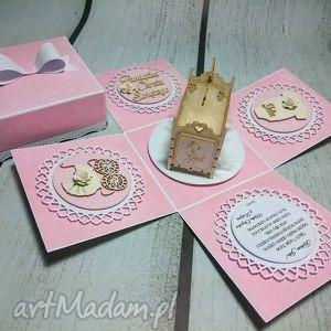 Nietuzinkowe eksplodujące pudełeczko, box, pudełczko, kołyska, chrzest, urodziny