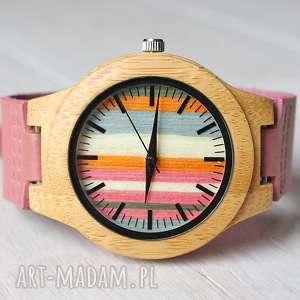 Drewniany damski zegarek FLAMINGO, drewniany, kobiecy, zegarek, babski, ekologiczne