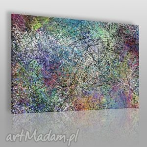 obraz na płótnie - abstrakcja linie 120x80 cm 38901 , pollock, ekspresjonizm