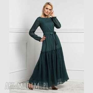 sukienka delia maxi romina grochy drobne, maxi