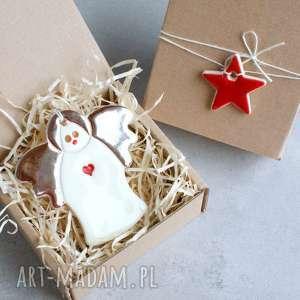dekoracje anioł - zawieszka ceramiczna, anioł, zawieszka, choinka, święta