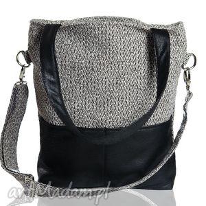 kangoo s grey bering black - torba, torebka, szara, czarna
