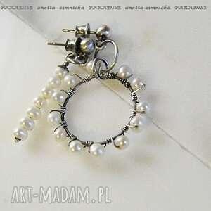 Srebro kolczyki perły do pary anetta zimnicka perły, srebro