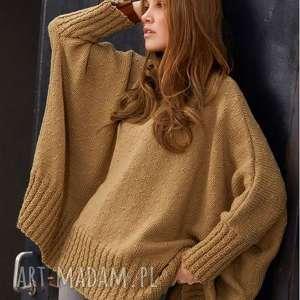 unikalny, poncho miluza, poncho, sweter, wełniany, dziergany, prezent, ciepłe