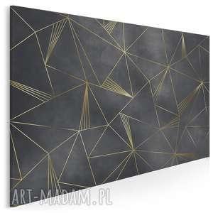 obraz na płótnie - art-deco linie nowoczesny 120x80 cm 95101, obraz, art