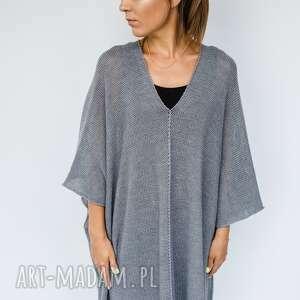 poncho oversize sweter-ponczo z mieszanki wełnianej, ponczo wełniane, luźny