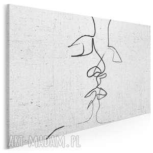 obraz na płótnie - abstrakcja pocałunek 120x80 cm 31601