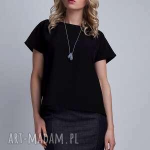 Top, BLU123 czarny, top, bluzka, koszulka, plecy, czarna, elegancka