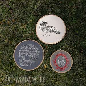 obrazki haftowane - ,obrazki,haft,ściana,tamborek,plakat,ozdoba,