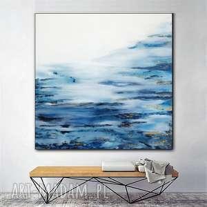 - mglistość abstrakcja na płótnie, obraz ręcznie malowany, nowoczesny
