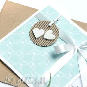 handmade kartki kartka ślubna :: mint:: handmade
