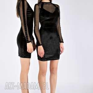 sukienki tamashi - czarna aksamitna sukienka