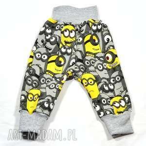 minionki szaro-żółte spodnie dla dziecka, rozmiary 56-122, chłopca