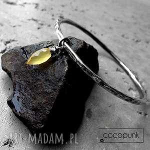 bransoleta - srebro i chalcedon mango, delikatna, codzienna, elegancka, modna