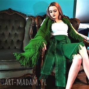 spódnice spódnica zielona indiańska, spódnica, frędzle, strzępienia, indiańska