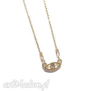 oko proroka naszyjnik - oko, proroka, celebrytka, łańcuszek, charms, złoto