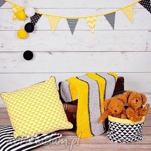 girlanda żółto-czarna, girlanda, proporce, chorągiewki pokoik dziecka