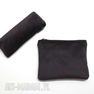hand-made pomysł na świąteczny prezent zestaw piórnik i kosmetyczka - tkanina tłoczona