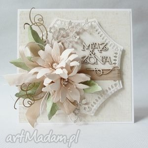 mąż Żona - kartka w pudełku - ślub, rocznica, gratulacje, życzenia