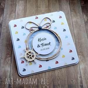 Ślubna morska bryza, życzenia-ślubne, kartka-na-ślub, okręt, morska, marine, morze