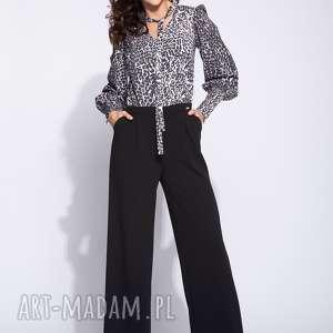 handmade spodnie kombinezon damski z górą w panterkę