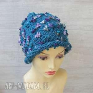Fantazyjna czapka zimowa czapki albadesign czapka, beanie, gruba