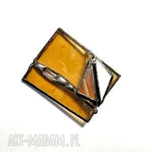 broszki broszka witrażyk, uroczy prezent hand made dla kochającej broszki, które