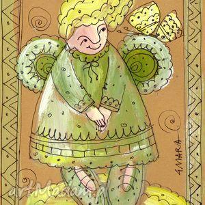 scrapbooking kartki aniołek w11, anioł, aniołek, aniołeczek, kartka