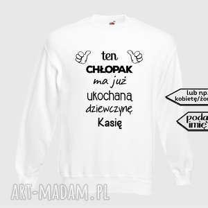 pomysł na święta prezent bluza z nadrukiem dla chłopaka, faceta, narzeczonego, męża