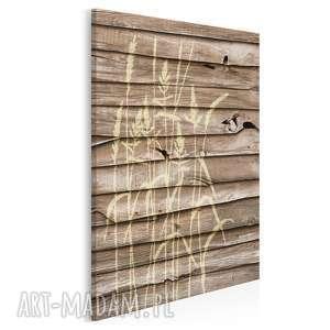 obraz na płótnie - drewno natura 50x70 cm 09902, dekoracja, natura, zboże