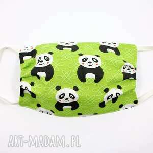 maska bawełniana dwuwarstwowa maseczka ochronna panda, bawełniana