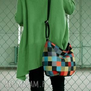 Mini Sak vegan mozaika, torba, torebka, lato, kolor