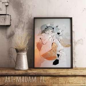ręcznie zrobione dekoracje piękna i delikatna ilustracja matka z dzieckiem