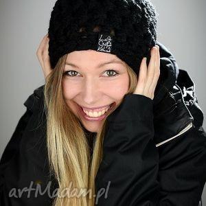 świąteczne prezenty, czapka fatty 01 - czarna, damska, zimowa